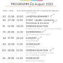 Unser Programm im AUGUST