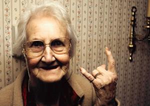 Heavy-Metal-Grandma plakatgröße